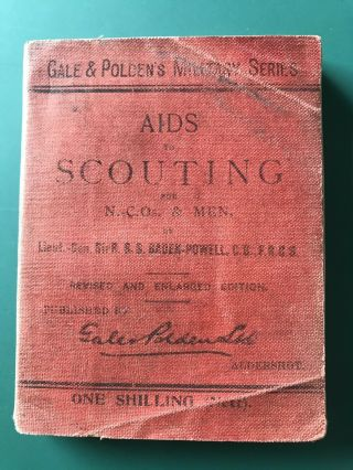 Boy Scout Book Aids To Scouting By Baden Powell 1909's