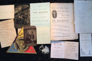 Scrap Book Covering Years 1878 - 1886 At Mass Institute Technology & Vt Academy