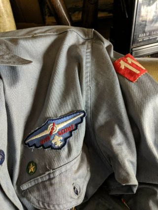 40s Air Scouts Shirt w/ hand made squadron 11 Boy Scout Of America 4