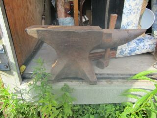 Antique Peter Wright Over 125 Pounds Anvil Blacksmith Tool
