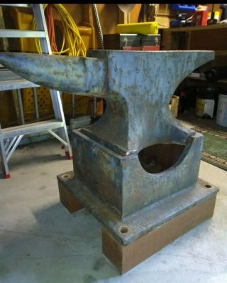 Antique Solid Wrought Blacksmith Anvil