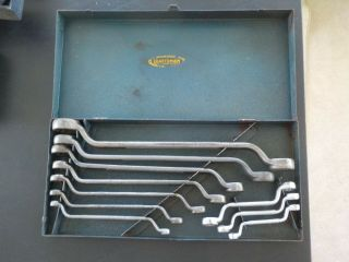 Vintage Craftsman Rare Complete 1939 - 40 Ci 45 Degree Offset Box End Wrench Set
