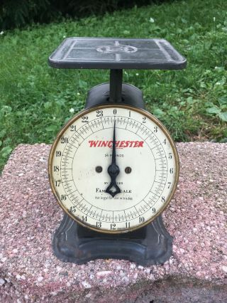 Vintage Winchester Repeating Arms Table Top 24 Pounds Family Scale Rare