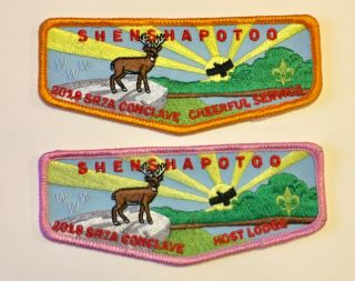 Shenshawpotoo Lodge 276 Workday And Staff Flap: Sr - 7a 2018 Conclave: Bsa - Oa - Rare