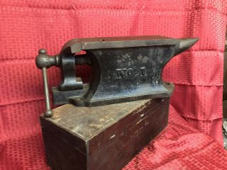 Charles Parker No.  1 Bench Anvil Vise 1877 Antique Vintage Rare Blacksmith Vice