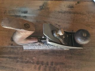 Antique Stanley No.  72 Chamfer Plane Pat Date Apr 21 - 85