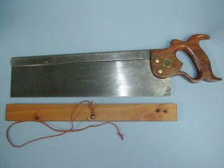 "Henry Diston & Sons "" Cast Steel "" 14 "" Back Saw,  Sharp & Straight"