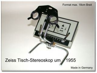 Carl Zeiss Jena 1955 Rare Table Stereoscope Stereoviewer And Stereoviews And Box