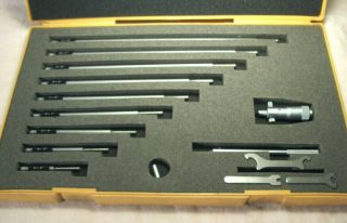 """Vtg Mitutoyo 141 - 133 Inside Micrometer Set Ims 2 """" - 12 """" Machinists Tool W/case"""