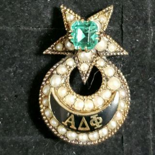 1881 Alpha Delta Phi Badge 3.  42 Grams - Rochester Chapter - Ships