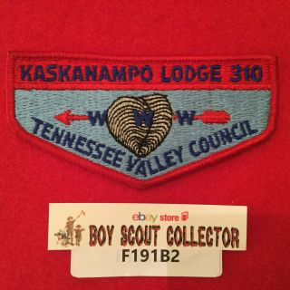 Boy Scout Oa Kaskanampo Lodge 310 S1 Order Of The Arrow Pocket Flap Patch