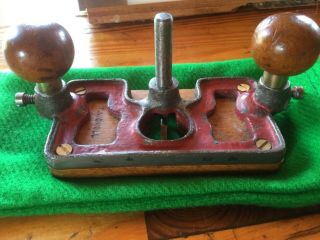 Very Rare Tyzack Medium Router Plane,  W/ Wood Base,  Smaller Than Preston 1399