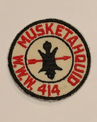 Oa Lodge 414 Musketahquid 414r1 Rare Round Patch