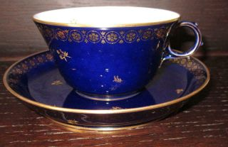 20th Century Sevres French Porcelain Cup & Saucer Ex Harold Wilson / De Gaulle 6
