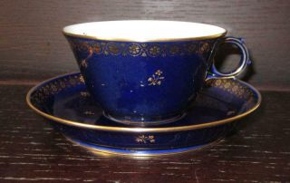 20th Century Sevres French Porcelain Cup & Saucer Ex Harold Wilson / De Gaulle 5