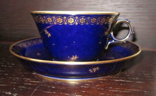 20th Century Sevres French Porcelain Cup & Saucer Ex Harold Wilson / De Gaulle 2