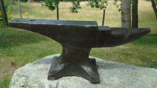 Wonderful Hay Budden Blacksmith Anvil Forge Iron Welding KNIFE MAKER 133 lbs 2