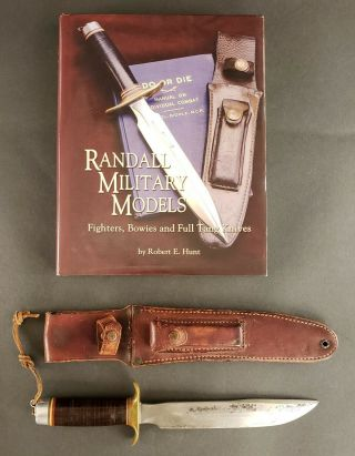 WW2 Randall No.  1 8 Inch Fighting Knife In book