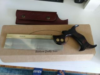 Lie Nielsen Cocobolo Dovetail 15ppi Rip Saw; Box And Leather Sheath