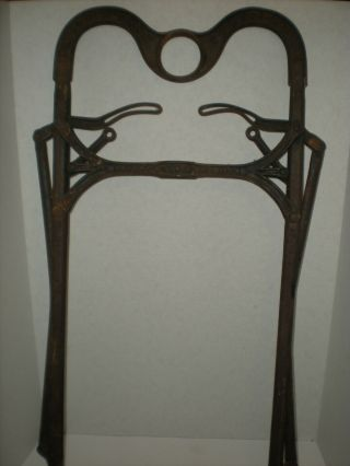 Antique Cast Iron Nellis Hay Fork 1868 For Trolley Pulley Very Rare 4 Lever