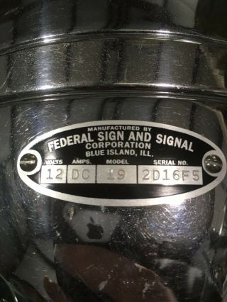 Federal Signal Model 19 Propello Ray spinning light 6