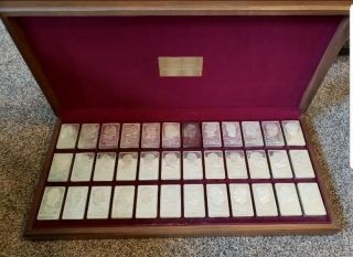 Danbury (36) Solid Sterling Silver First Edition Presidential Ingot Set