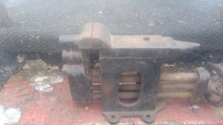 Antique Anvil/vice Combo Thew Stewart Handy Worker.