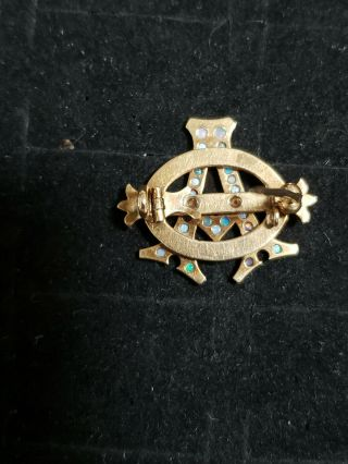 Pre - 1906 Alpha Phi Badge - with Opals - 2.  42 Grams - Lazy Phi Style 6