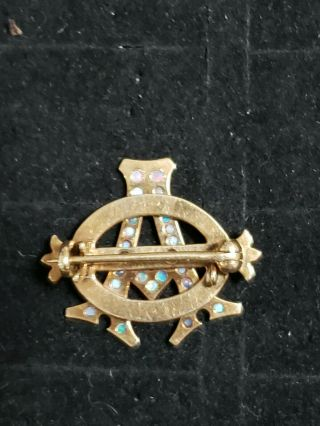 Pre - 1906 Alpha Phi Badge - with Opals - 2.  42 Grams - Lazy Phi Style 7