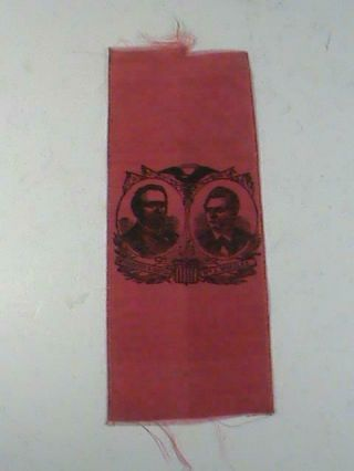 Presedent Rutherford B Hayes & W.  A.  Wheeler Political Campaign Ribbon