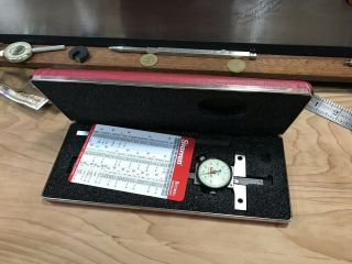 Minty Starrett No.  450 Dial Depth Gage Tool - Hook Case Base Extension Machinist