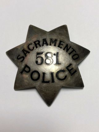 Vintage Sacramento Police Badge Ed Jones & Co Oakland California Fire