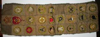 1917 - 1922 Boy Scout Merit Patch & More - Scoutmaster Carl Zillig Troop 3 Atlanta