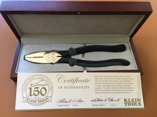 Klein Tools 150th Year Anniversary Pliers And Certificate