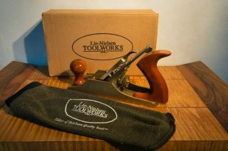 Lie - Nielsen No 4 Bronze Smoothing Plane,  Plane Sock & Box,  Great Cond.