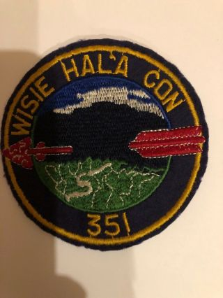 Oa Lodge 351 Wisie Hal'a Con R2 Felt But Appears