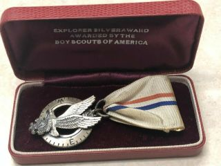 Boy Scout Explorer Silver Award Medal Sterling