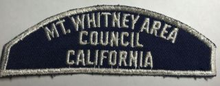 Mt Whitney Area Council Californis Bws