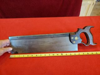 Disston 77 Back Saw - Early Split Nuts - Is It 1876? You Decide.