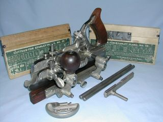 Stanley No.  45 Sw Combination Plow Plane W/ 23 Cutters,  Sweetheart