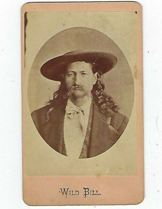 "Old Cdv Of "" Wild Bill "" Hickok"