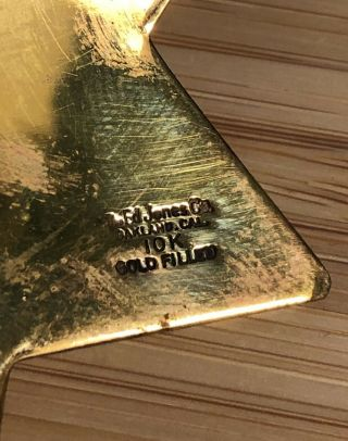 Ed Jones Co.  Gold Filled Solid Gold Diamond Sarah Palin Alaska Governor Badge 7