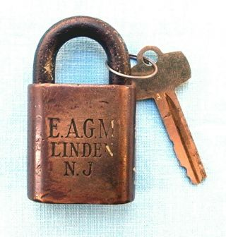 Early Eastern Airlines General Motors Division Best Padlock And Key