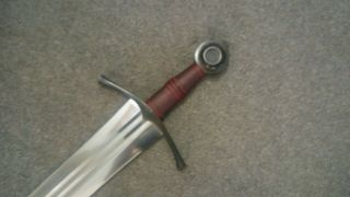 Albion Sovereign Sword w/blackened hardware and scabbard 2