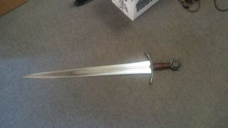 Albion Sovereign Sword w/blackened hardware and scabbard 3