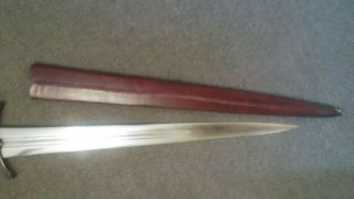 Albion Sovereign Sword w/blackened hardware and scabbard 6