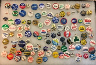 More Than 110 Local Political Pins - Mostly Delaware And Pa For Oley Foundation