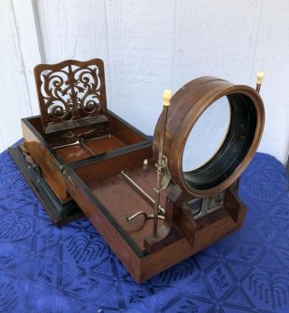 H.  J.  Lewis 1875 Deluxe Stereo Graphoscope Stereoscope Viewer Stereoview