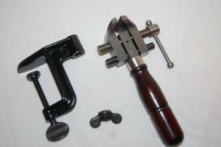 Starrett 86a Combination Hand Vise With Clamp - Orig.  Box
