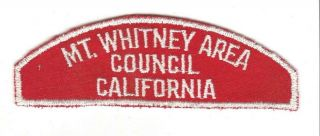 Rws Mt.  Whitney Area Council California Gause Back Rated 11 $2277